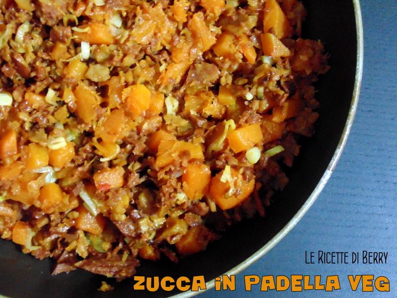 Zucca in Padella Vegan con Muscolo di Grano 4