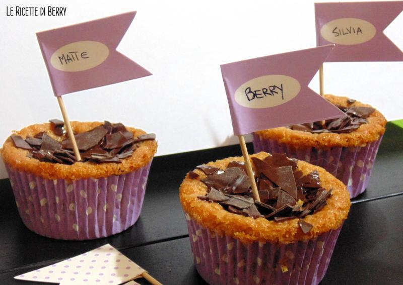 Cupcakes con Gocce di Cioccolato senza Uova e Burro 1