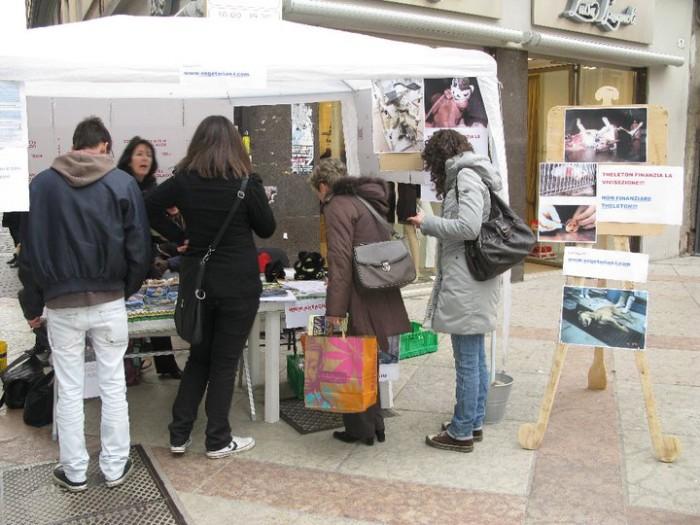 TRENTO - 12.03.2011 - TAVOLO INFORMATIVO SULLA VIVISEZIONE 164