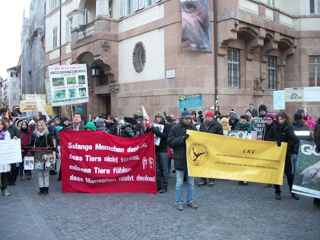 Bolzano 04.02.2012 manifestazione contro lo sfruttamento degli animali 307