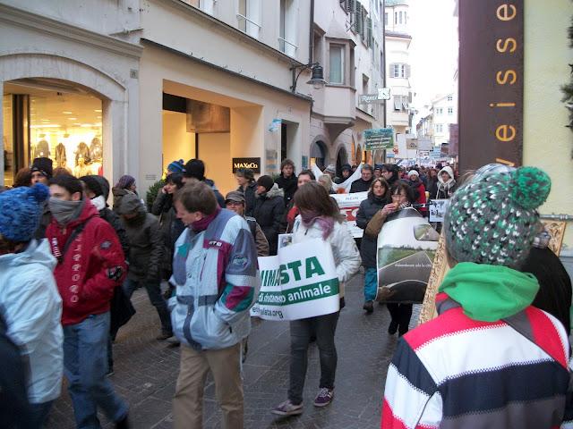 Bolzano 04.02.2012 manifestazione contro lo sfruttamento degli animali 311