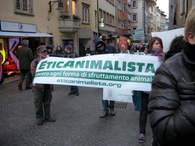 Bolzano 04.02.2012 manifestazione contro lo sfruttamento degli animali 142