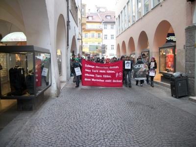 Bolzano 04.02.2012 manifestazione contro lo sfruttamento degli animali 156