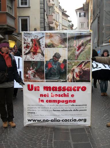 Bolzano 04.02.2012 manifestazione contro lo sfruttamento degli animali 327