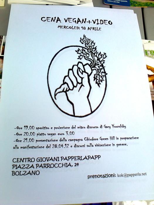 14.04.2012 - BOLZANO - TAVOLO INFORMATIVO CONTRO LA CACCIA E SULL'ALIMENTAZIONE VEGANA 173