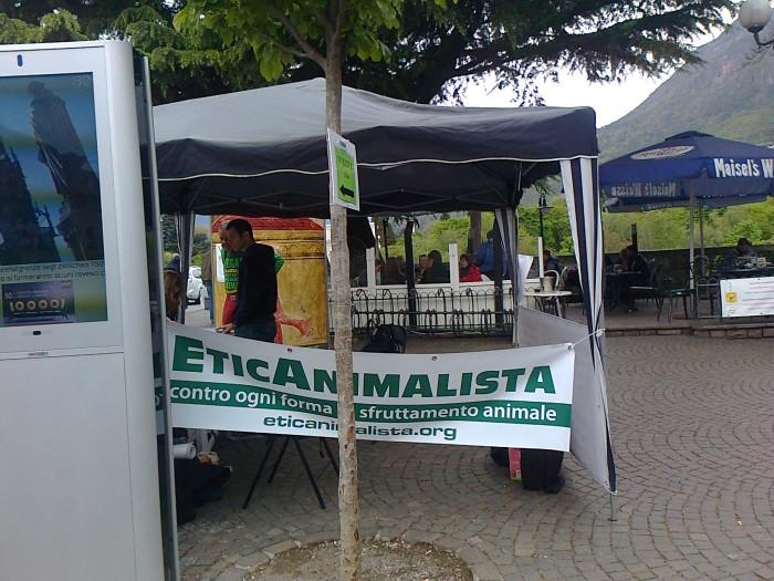14.04.2012 - BOLZANO - TAVOLO INFORMATIVO CONTRO LA CACCIA E SULL'ALIMENTAZIONE VEGANA 140