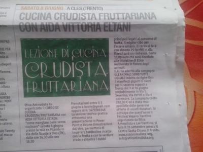 CLES (TN) 08.06.2013 - CORSO DI CUCINA CRUDISTA CON AIDA VITTORIA ELTAIN 5