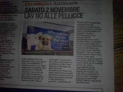 FA' LA GIUSTA 2013 -TAVOLO ANIMALISTA 78