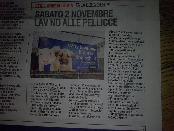 FA' LA GIUSTA 2013 -TAVOLO ANIMALISTA 159