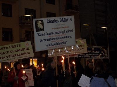03 dicembre 2011 Trento fiaccolata per denunciare lo sterminio degli animali nel periodo natalizio (e non solo!) 36