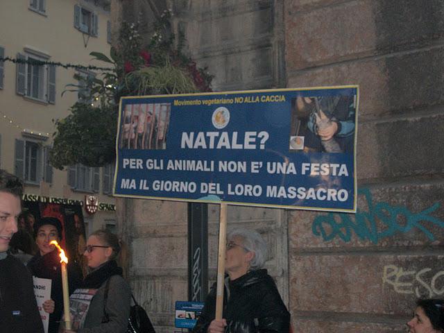03 dicembre 2011 Trento fiaccolata per denunciare lo sterminio degli animali nel periodo natalizio (e non solo!) 242
