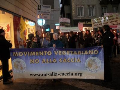 03 dicembre 2011 Trento fiaccolata per denunciare lo sterminio degli animali nel periodo natalizio (e non solo!) 67