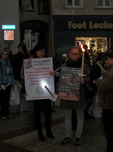 03 dicembre 2011 Trento fiaccolata per denunciare lo sterminio degli animali nel periodo natalizio (e non solo!) 264