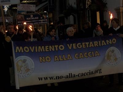 03 dicembre 2011 Trento fiaccolata per denunciare lo sterminio degli animali nel periodo natalizio (e non solo!) 90