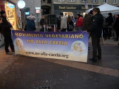 03 dicembre 2011 Trento fiaccolata per denunciare lo sterminio degli animali nel periodo natalizio (e non solo!) 91