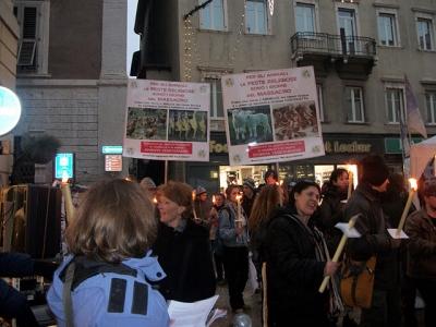 03 dicembre 2011 Trento fiaccolata per denunciare lo sterminio degli animali nel periodo natalizio (e non solo!) 94