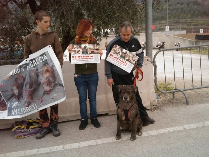 Riva del Garda 26.03 - Sit-in contro la fiera della caccia e della pesca 87