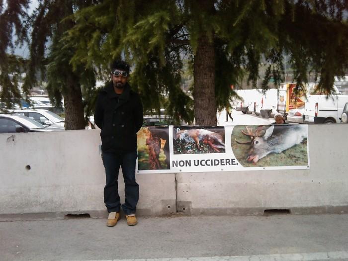Riva del Garda 26.03 - Sit-in contro la fiera della caccia e della pesca 88
