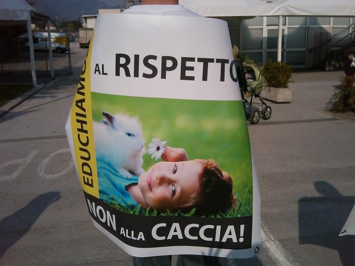 Riva del Garda 26.03 - Sit-in contro la fiera della caccia e della pesca 50