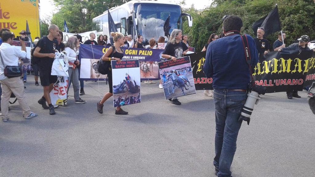 Manifestazione contro il Palio di Siena - 16.08.2015 76