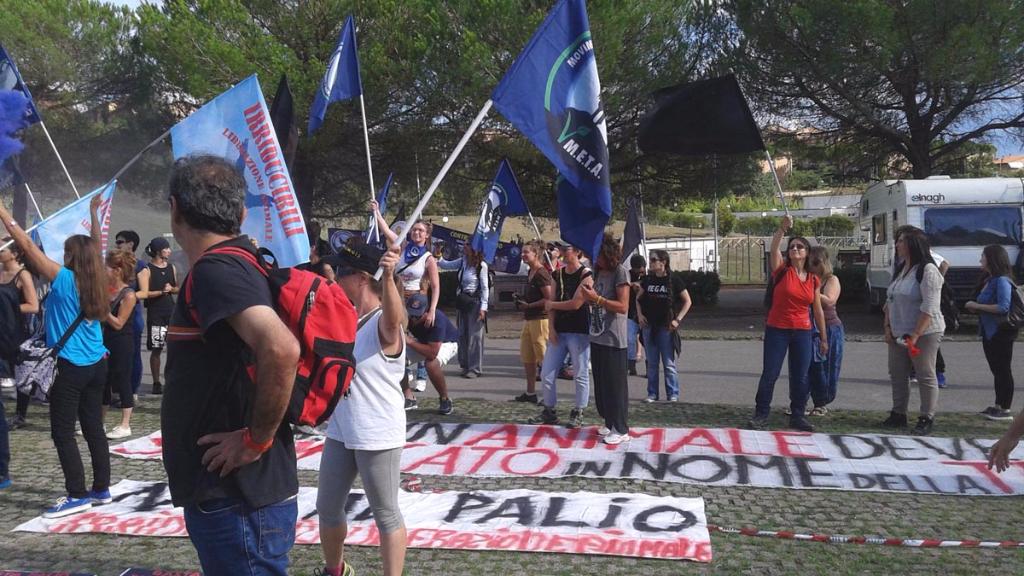 Manifestazione contro il Palio di Siena - 16.08.2015 59