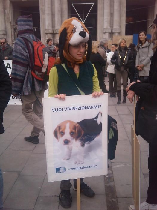 MANIFESTAZIONE CONTRO LA VIVISEZIONE - MILANO 5 marzo 2011 154