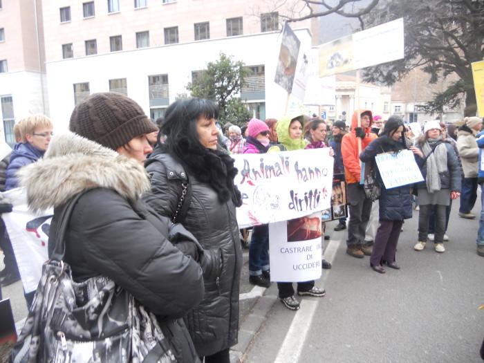 Bolzano 04.02.2012 manifestazione contro lo sfruttamento degli animali 340