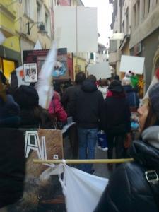 Bolzano 04.02.2012 manifestazione contro lo sfruttamento degli animali 7
