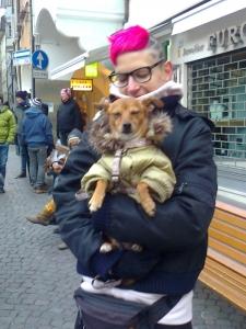 Bolzano 04.02.2012 manifestazione contro lo sfruttamento degli animali 13