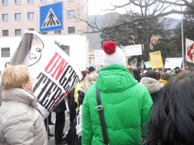 Bolzano 04.02.2012 manifestazione contro lo sfruttamento degli animali 15