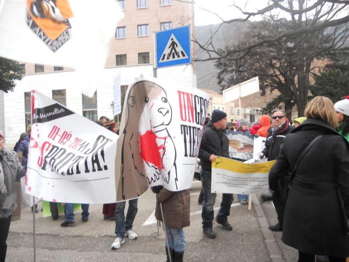 Bolzano 04.02.2012 manifestazione contro lo sfruttamento degli animali 186