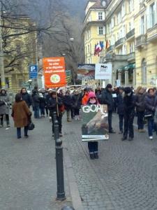 Bolzano 04.02.2012 manifestazione contro lo sfruttamento degli animali 18