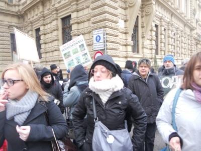 Bolzano 04.02.2012 manifestazione contro lo sfruttamento degli animali 24