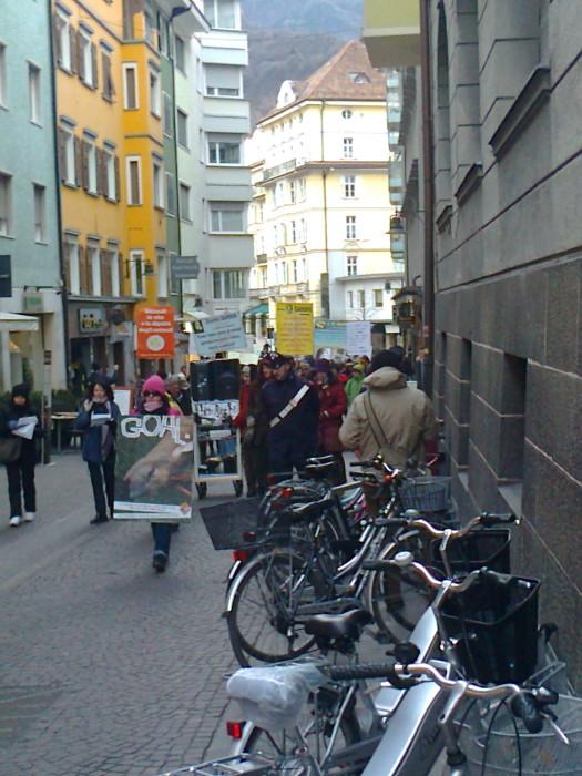 Bolzano 04.02.2012 manifestazione contro lo sfruttamento degli animali 204