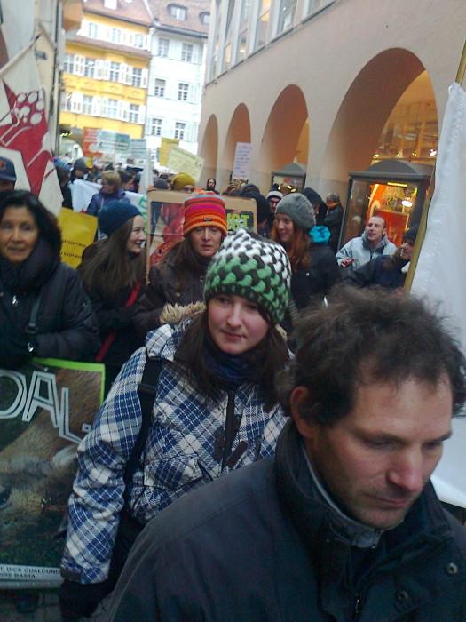 Bolzano 04.02.2012 manifestazione contro lo sfruttamento degli animali 242