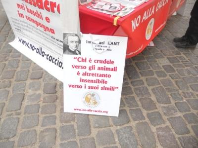 Bolzano 04.02.2012 manifestazione contro lo sfruttamento degli animali 90