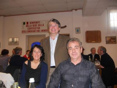 13.11.11. Pranzo vegano a Musano di Trevignano (TV) con Andrea Zanoni presidente Lac e neo eletto eurodeputato 13