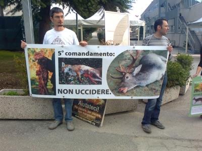 Presidio alla Fiera Caccia e Pesca di Riva del Garda 31.03.2012 130