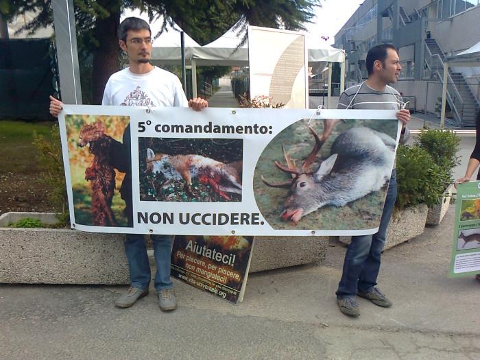 Presidio alla Fiera Caccia e Pesca di Riva del Garda 31.03.2012 296