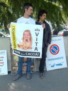 Presidio alla Fiera Caccia e Pesca di Riva del Garda 31.03.2012 144