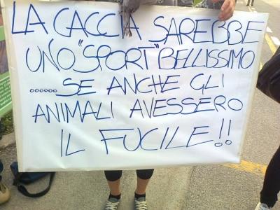 Presidio alla Fiera Caccia e Pesca di Riva del Garda 31.03.2012 164