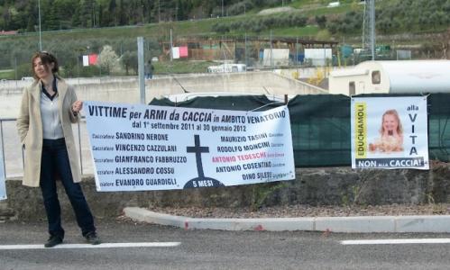 Presidio alla Fiera Caccia e Pesca di Riva del Garda 31.03.2012 37