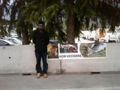 Riva del Garda 26.03 - Sit-in contro la fiera della caccia e della pesca 12