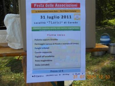 FESTA DELLE ASSOCIAZIONI - LOC. 7 LARICI - COREDO (TN) - 31.07.2011 138