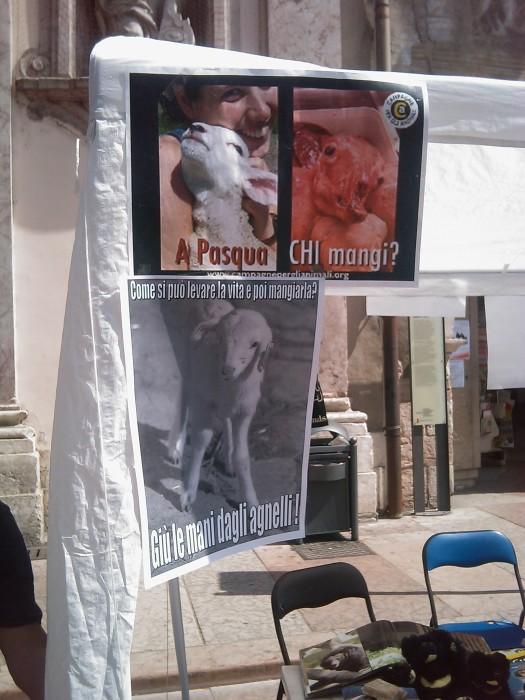 16 aprile 2011 - TAVOLO INFORMATIVO SU MASSACRO AGNELLI E CAPRETTI PERIODO PASQUALE 79