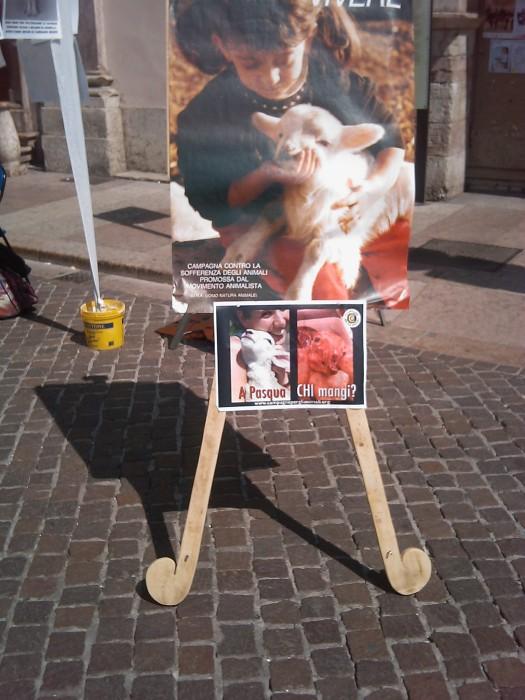 16 aprile 2011 - TAVOLO INFORMATIVO SU MASSACRO AGNELLI E CAPRETTI PERIODO PASQUALE 85