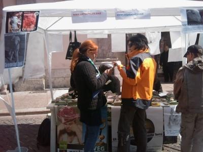 16 aprile 2011 - TAVOLO INFORMATIVO SU MASSACRO AGNELLI E CAPRETTI PERIODO PASQUALE 28