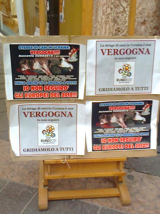 TRENTO 12.05.2012 - TAVOLO INFORMATIVO SULLO STILE DI VITA VEGAN E SUL MASSACRO DEI CANI IN UCRAINA 83