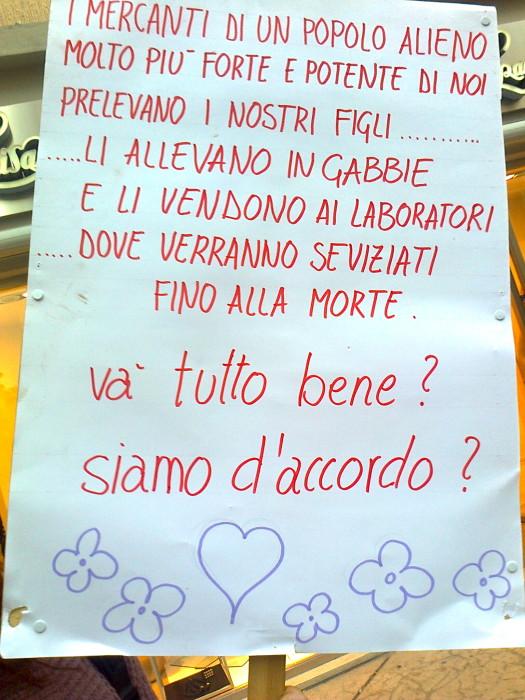 TRENTO - 03.03.2012 - TAVOLO INFORMATIVO SUGLI ORRORI DELLA VIVISEZIONE 140