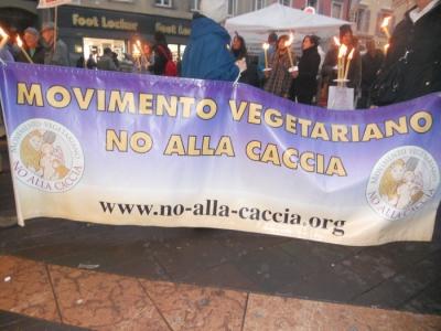 03 dicembre 2011 Trento fiaccolata per denunciare lo sterminio degli animali nel periodo natalizio (e non solo!) 101